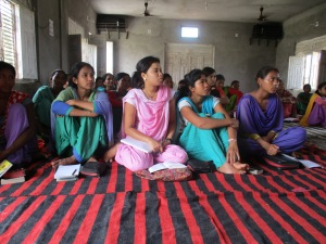 Listening intently at a West Nepal church.