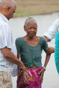 90 year old woman. Her hearts desire was to be baptized before she died.