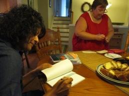 Book signing in Uxbridge, Ontario, Canada